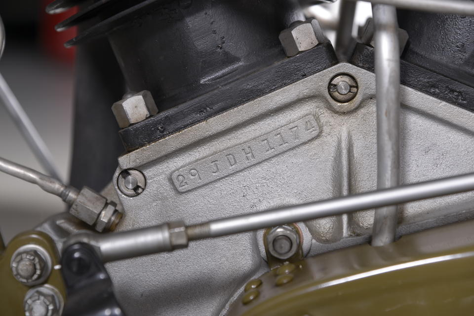 1929 Harley-Davidson 1,200cc Model JDH 'Two Cam' Racing Motorcycle Engine no. 29JDH1174