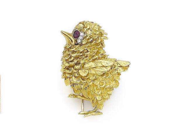 A novelty brooch, by Cartier,
