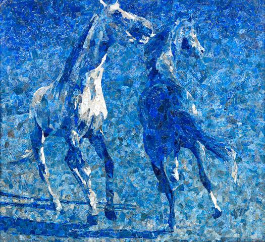 Ismail Gulgee (Pakistan, 1926-2007) Horses