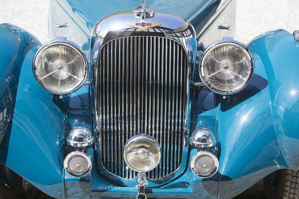 The 1940 New York Auto Show,1939 LAGONDA  LG6 RAPIDE DROPHEAD COUPEFactory Coachwork Designed by Frank Feeley  Chassis no. 12372 Engine no. 12372
