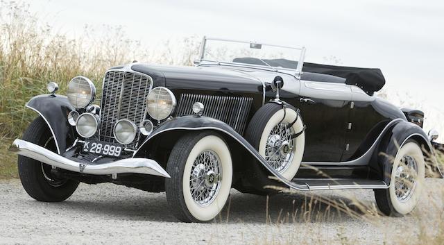 1934 AUBURN 12-165 SALON CONVERTIBLE  Chassis no. 1091F Engine no. BB2576U