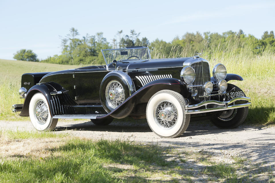 The ex-Shirley Carter Burden,1930 DUESENBERG MODEL J DISAPPEARING TOP ROADSTER  Chassis no. 2346 Engine no. J330Body no. 940