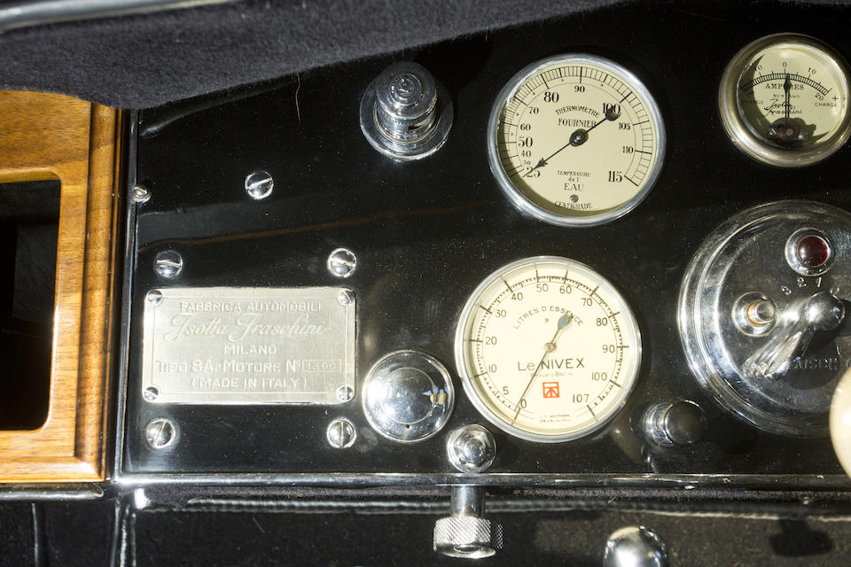 The 1957 Goodwood Concours winning,1929  ISOTTA FRASCHINI  TIPO 8A LANDAULETTE  Chassis no. 1390 (see text) Engine no. 1390