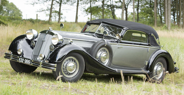 1937 HORCH 853 SPORT CABRIOLET  Chassis no. 853163