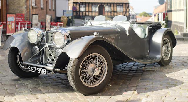 1938 JAGUAR SS100 3½ LITRE ROADSTER  Chassis no. 39083 Engine no. M1059E