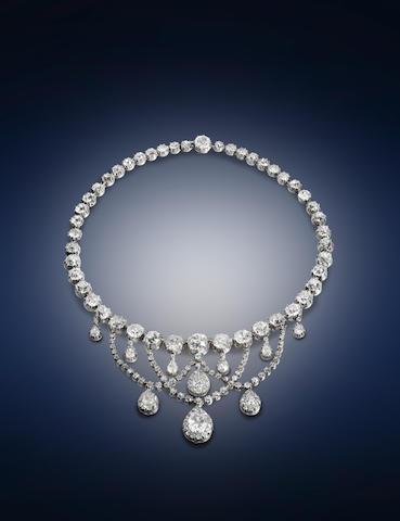 A 19th century diamond necklace