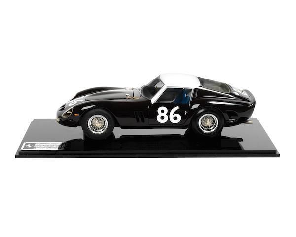 A 1:14 scale model of the 1962 Targa Florio Ferrari 250 GTO by Carlo Brianza,