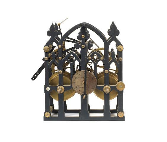 A late 19th century turret clock movement  Hawley & Co, 123 Regent Street,
