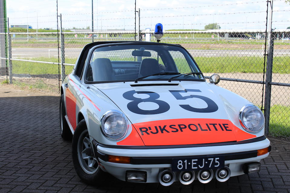 One of a mere 5 believed delivered new to the Rijkspolitie in 1974,1974 Porsche 911 2.7-Litre Targa 'ALEX 12.85' Rijkspolitie  Chassis no. 9115110341 Engine no. 6359081