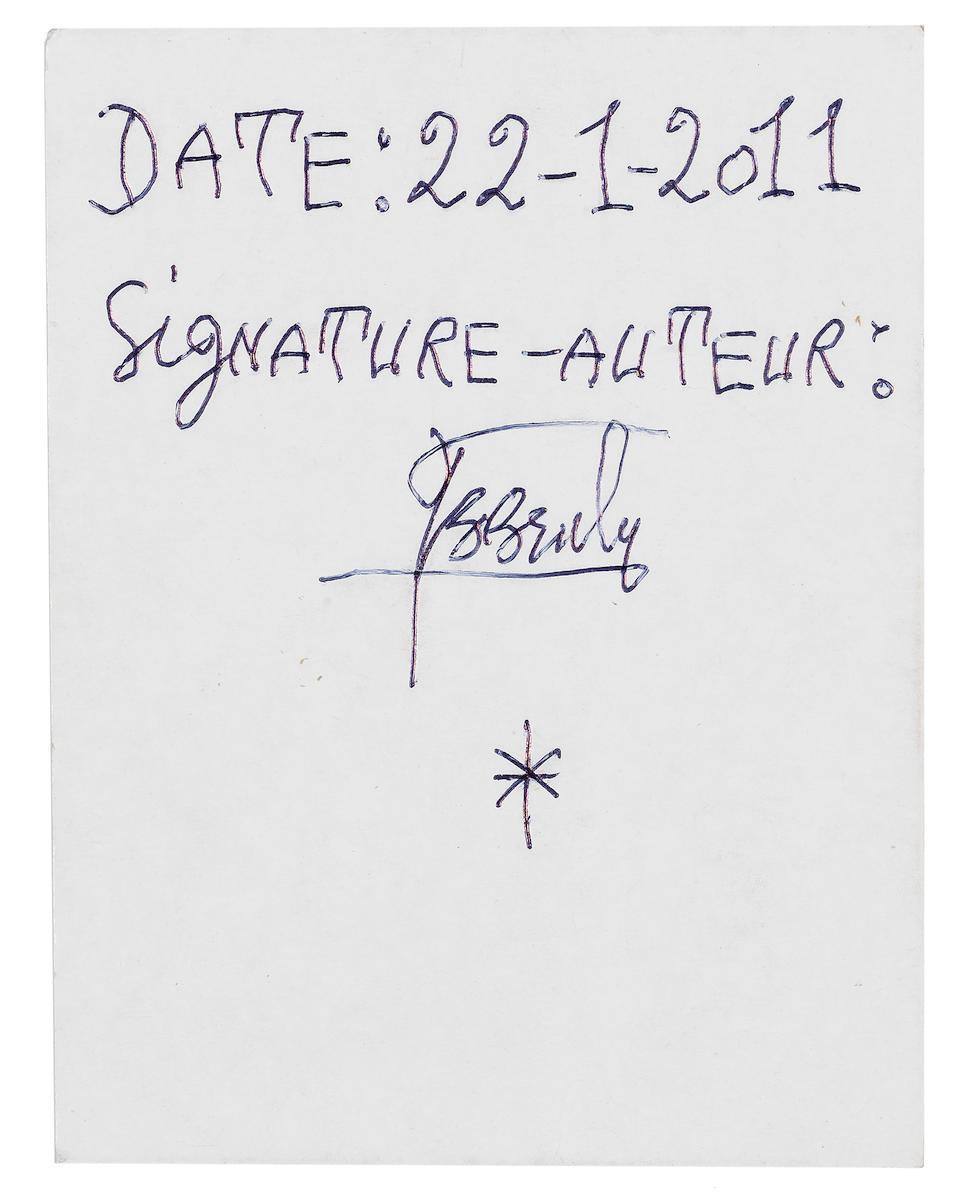 Frédéric Bruly Bouabré (Ivorian, 1921-2014) 'La venue au monde de l'Humanite' series unframed ((6))