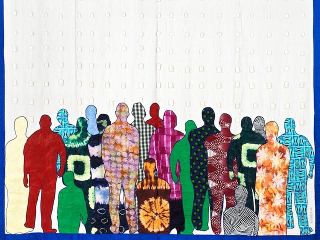 Abdoulaye Konaté (Malian, born 1953) 'Generation Biométrique' no. 5 (2008- 2013)