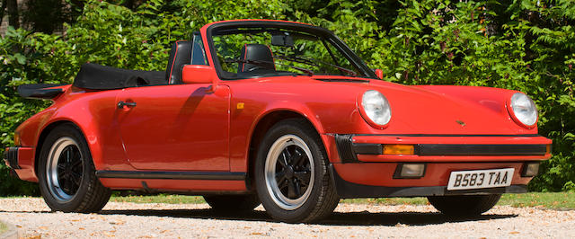 1985 Porsche 911 Carrera 3.2-Litre Convertible  Chassis no. WPOZZZ91ZFS150534 Engine no. 63F02356