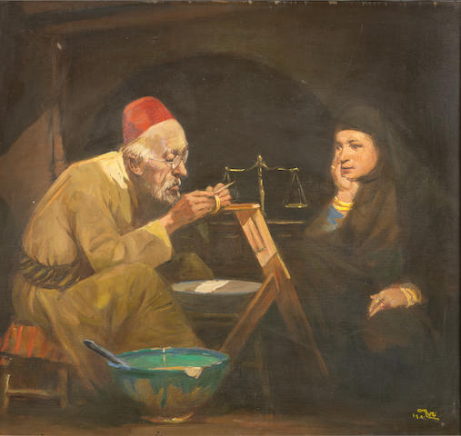 Faeq Hassan (Iraq, 1914-1992) The Goldsmith