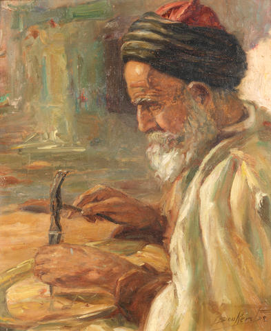 Miloud Boukerche (Algeria, 1908-1978) Portrait of an Arab Man