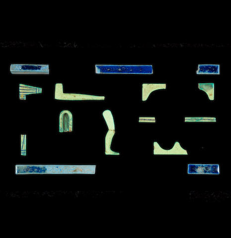 A group of Egyptian glazed composition inlay fragments 15