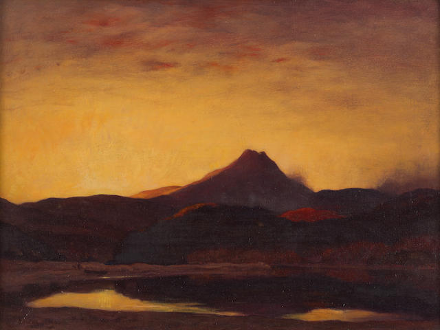 Sir David Young Cameron (British, 1865-1945) Ben Lomond 42 x 56 cm. (16 9/16 x 22 1/16 in.)