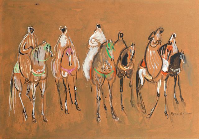 Hassan el Glaoui (Morocco, born 1924) Horses
