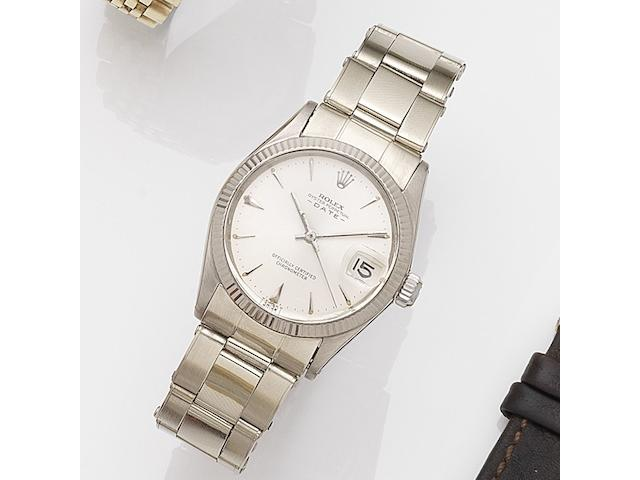 Rolex. A lady's 18K white gold automatic calendar bracelet watch Date, Ref:6627, Serial No.840***, Movement No.103**, Circa 1962