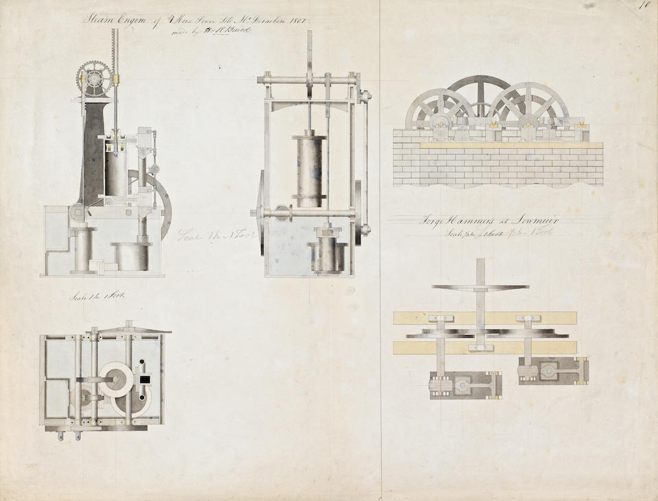 Portfolio of thirty-one engineering drawings, by the famous Scottish Engineer Charles Baird and others, 1800-1850, (31)