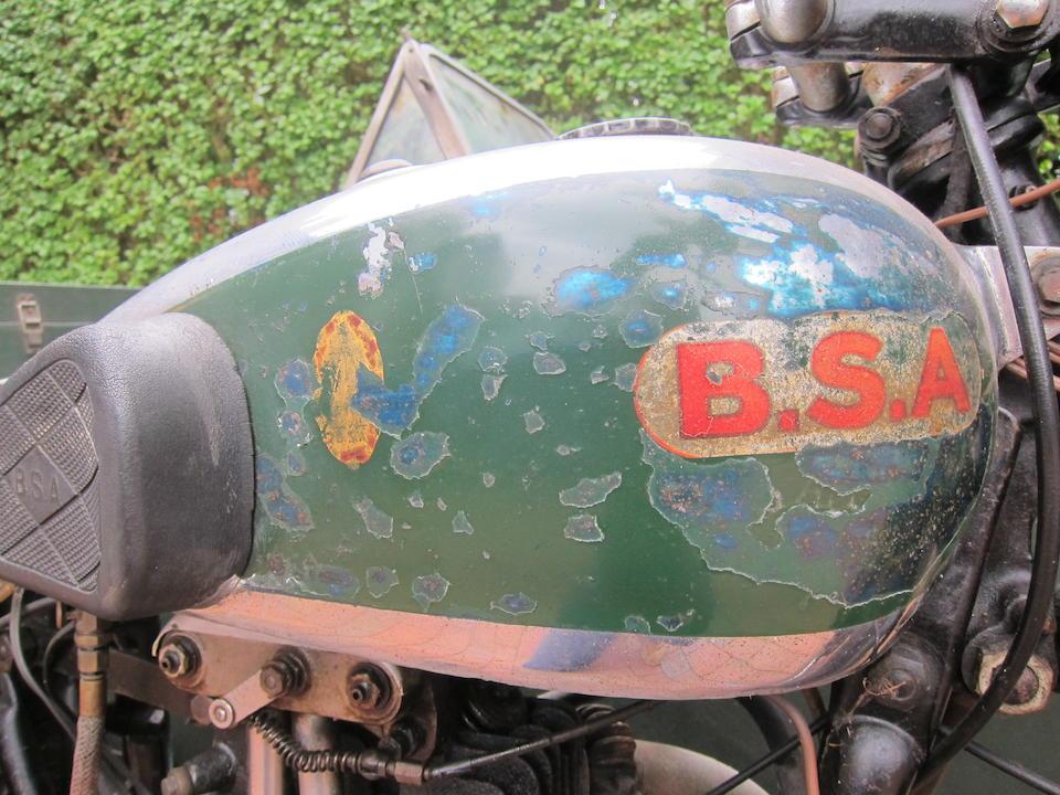 1935 BSA 348cc Blue Star Motorcycle Combination Frame no. 140 Engine no. B6 125