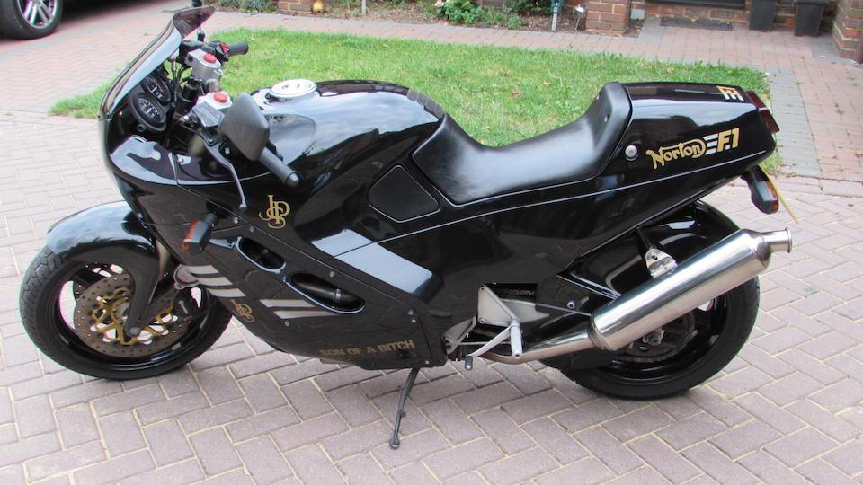 1990 Norton 588cc F1 Frame no. P55-050110 Engine no. 05011010