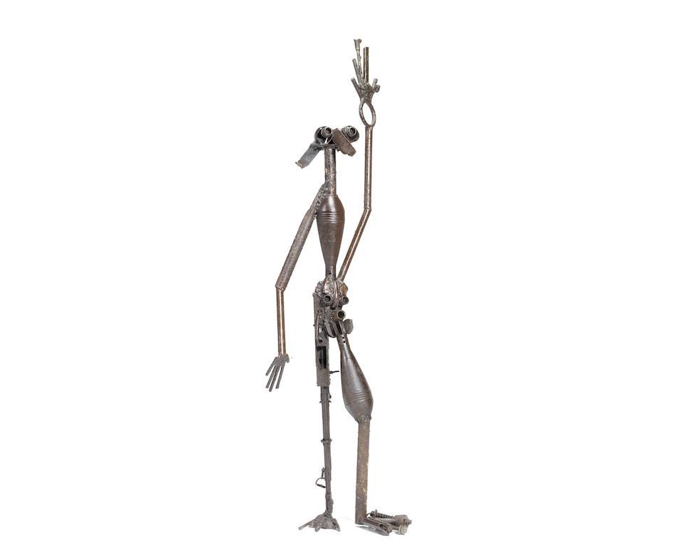 Gonçalo Mabunda (Mozambican, born 1975) Untitled (five standing figures)