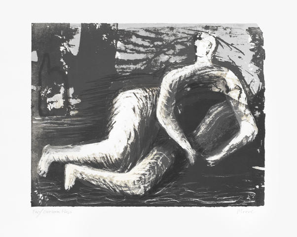 Henry Moore O.M., C.H. (British, 1898-1986) Adam Lithograph, 1980, on wove, signed and inscribed 'for Curwen Press' in pencil, a proof aside from the edition of 50, the full sheet, 263 x 335mm (10 3/8 x 13 1/8in) (I) unframed