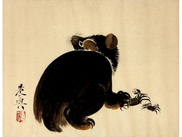 Shibata Zeshin 柴田是真 (1807–1891)  ALBUM OF URUSHI-E (LACQUER PAINTINGS) 漆絵画帳  Meiji era (1868–1912), circa 1881