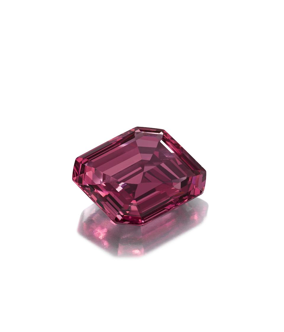 An exceptional 19th century spinel and diamond jewel