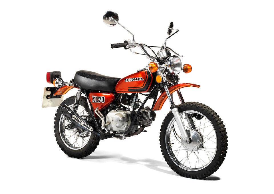 Property of James May,1973 Honda XL70 Trail Frame no. XL70-1008414 Engine no. XL70E-1008317