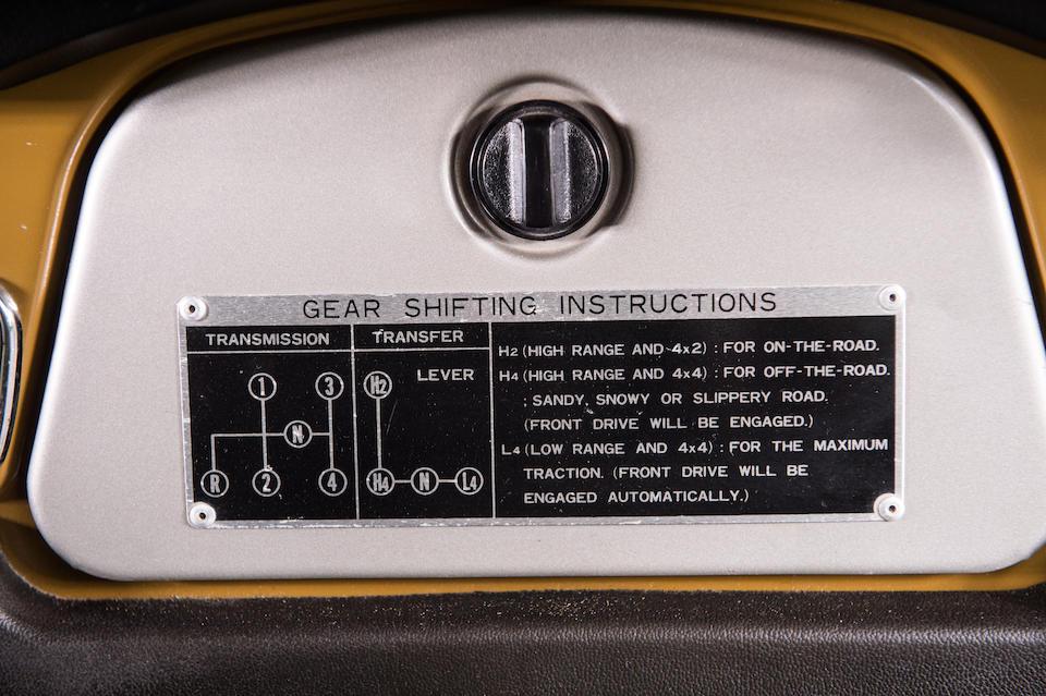1982  Toyota  FJ40 Land Cruiser 4x4  Chassis no. 810 127 Engine no. 588 824