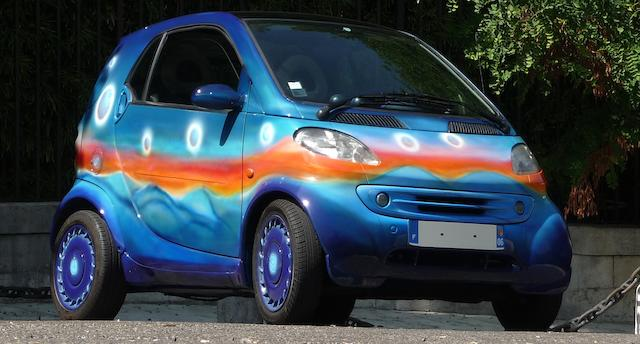 Created by the artist Jean-Michel Folon,1999  Smart  Microcar  Chassis no. TCC01MCO1XH19815