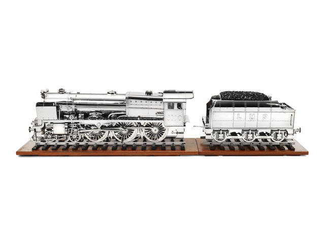A finely engineered 5 1/4 inch gauge model of 'The Royal Scot', Modern, Ron Westoby, length of track approx. 67 ins (170cm) long