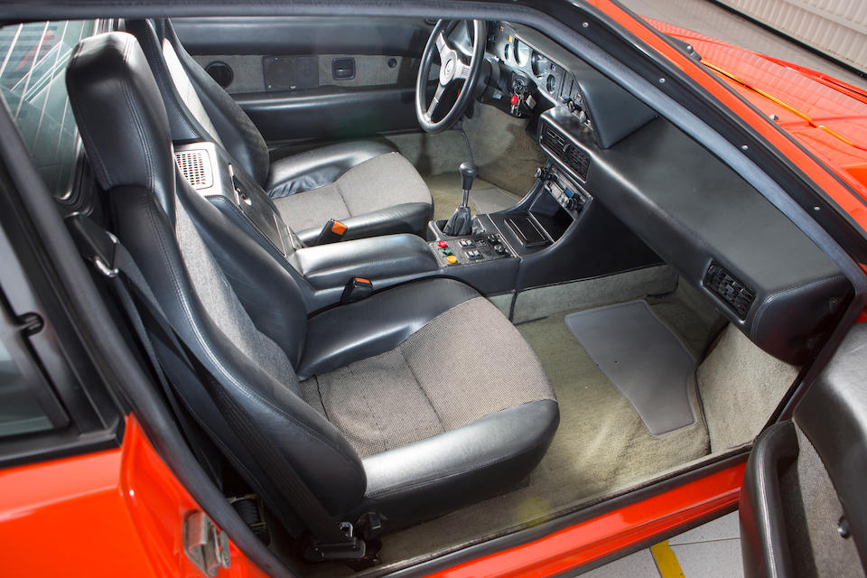 Delivered new to Belgium,1980 BMW M1 Coupé  Chassis no. WB500000094301080 Engine no. WB500000094301080