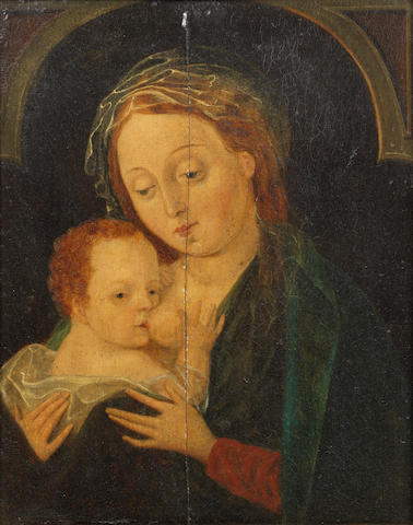 Follower of Joos van Cleve (Cleve circa 1485-circa 1540 Antwerp) The Madonna and Child