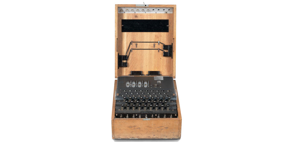 A rare four-rotor M4 Enigma cipher machine,  German,  circa 1944,