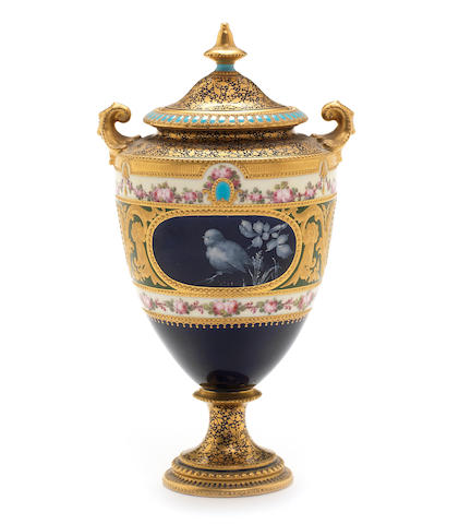 A Royal Crown Derby vase and cover by Désiré Leroy, dated 1898
