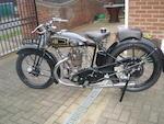 1929 AJS 349cc Model M6 'Big Port' Frame no. M104570 Engine no. M6 104570