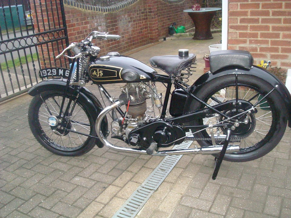 1929 AJS 349cc Model M6 'Big Port' Frame no. M104570 Engine no. M6 104570