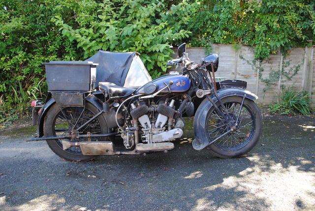 1930 AJS 998cc Model R2 Motorcycle Combination Frame no. 50941 Engine no. 50941
