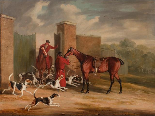 Samuel Alken, Jr. (British, 1784-1825) Unkennelling; Breaking Cover; Throwing off; The Kill (4)