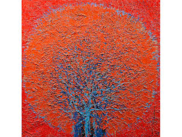 Ablade Glover (Ghanaian, born 1934) Red forest