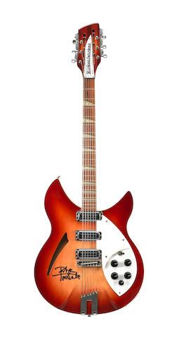 Pete Townshend/The Who: Two Rickenbacker guitars, played by Pete Townshend during the Who's 25th anniversary Tour, 1989,
