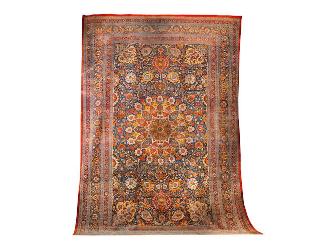 A large and impressive Tabriz carpet North West Persia, 765cm x 530cm