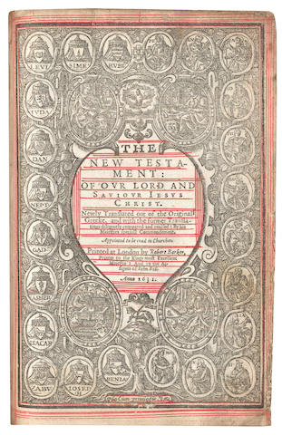 BIBLE, IN ENGLISH, AUTHORIZED VERSION [The Holy Bible: Containing the Old Testament and the New], THE 'WICKED BIBLE', 2 parts in 1 vol., Robert Barker... and by the assignes of John Bill, 1631