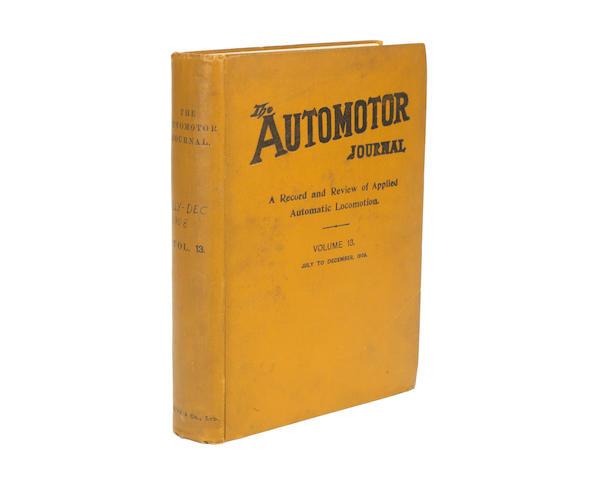 The Automotor Journal; Volume 13 (July-December 1908),
