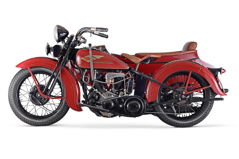 Harley-Davidson 750 cm3 Model R Side-car 1934  Engine no. 34R3131