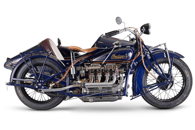 1930 Indian Model 402 Four Motorcycle Combination Engine no. EA1044