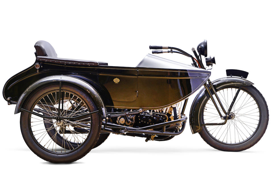 1922 Harley-Davidson 1,200cc Model JD Motorcycle Combination Frame no. 22JD10617 Engine no. 22JD10617