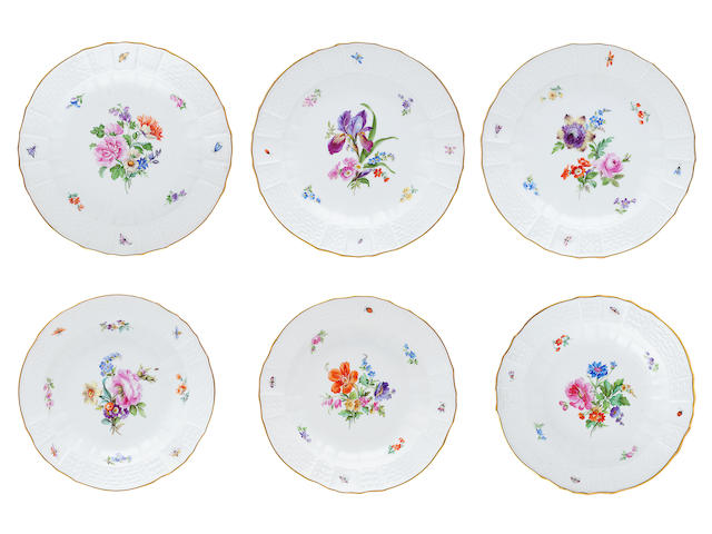 A Meissen part dinner service Early 20th century